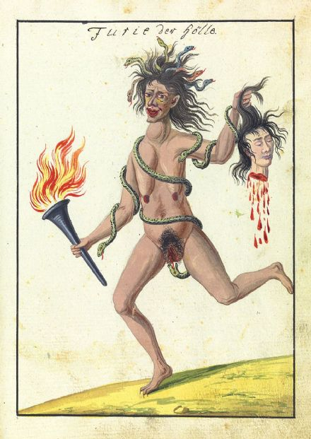 Occult Art: Fury of Hell (Compendium Rarissimum, c. 1775). Fine Art Print/Poster (4779)